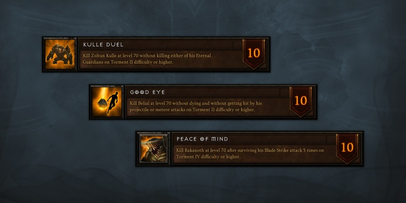 Diablo 3 Season 4 Achievements