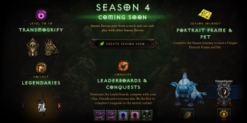 Diablo 3 Season 4 Rewards