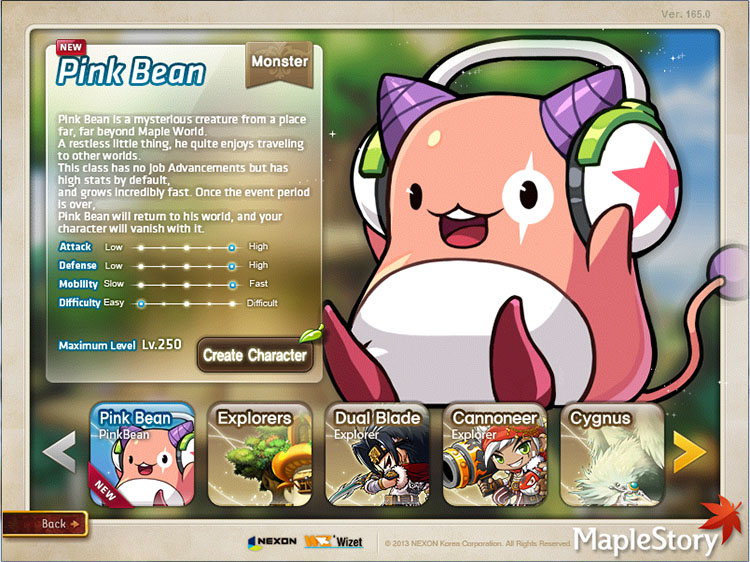 Pink Bean Maplestory GMS