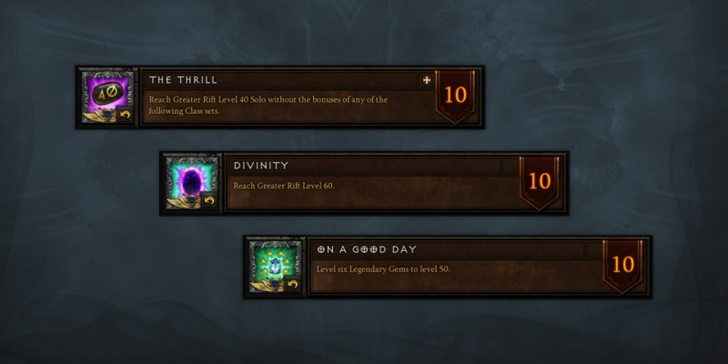 Season 4 Diablo 3 Achievcements