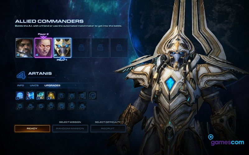 Starcraft 2 Protoss Allied Commanders