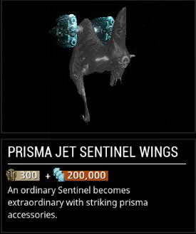 Warframe Prisma Jet Sentinel Wings Void Trader