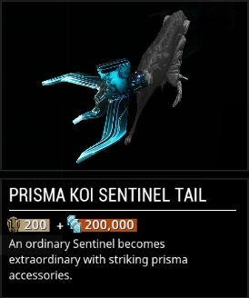 Warframe Prisma Koi Sentinel Tail