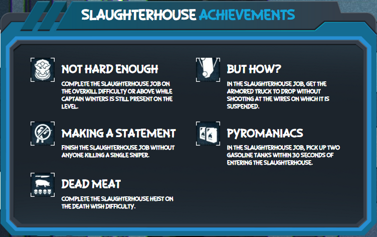 Payday 2 Crimefest day 9 SlaughterHouse 2.0 Achievements