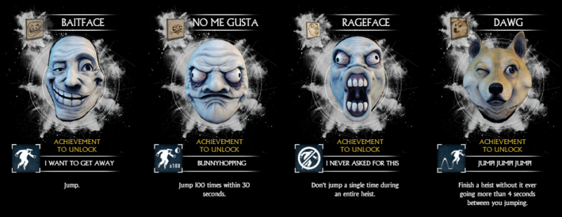 Payday 2 Meme Masks Crimefest Last Day 2015
