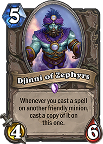 Hearthstone Djinni of Zephyrs