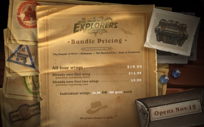 Hearthstone League of Explorer Bundles
