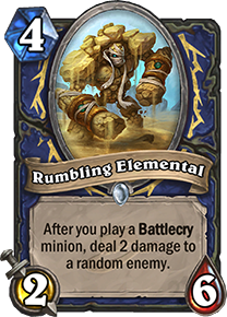 rumbling elemental hearthstone