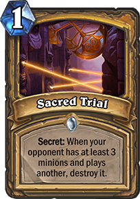 sacred trial hearthstone