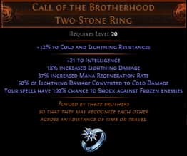 Call of The Brotherhood Two-Stone Ring