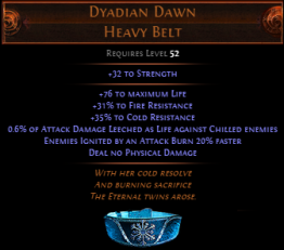 Dyadian Dawn Heavy Belt