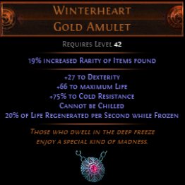 Winterheart Gold Amulet