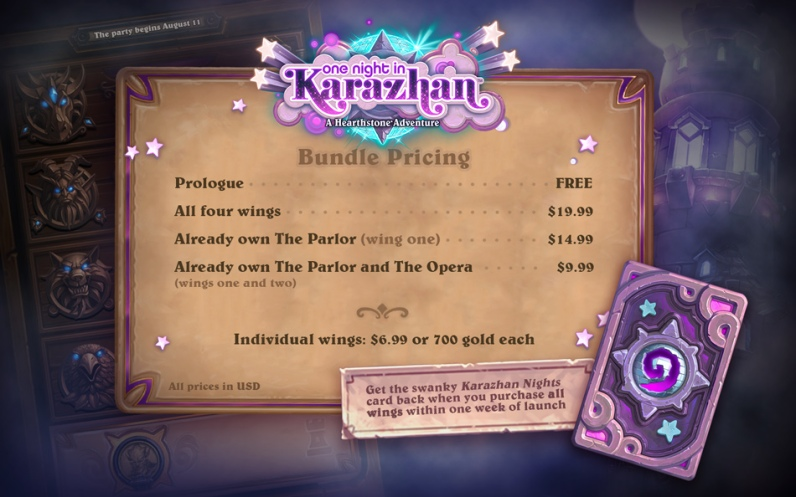 One Night in Karazhan Pricing