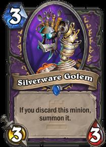 Silverware Golem Card